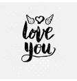 Black Love You Text on light Background vector image vector image