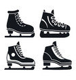 boot ice skates icon set simple style vector image