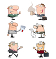 Business People With Wind-up Key In His Back vector image vector image