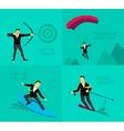 Businessman sport activities vector image vector image