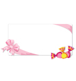 candy and ribbon vector image vector image