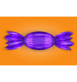 Candy in a purple wrapper vector image vector image