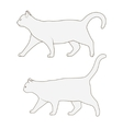 Cat side view scheme silhouette vector image