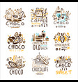chocolate traditions colorful graphic design vector image vector image