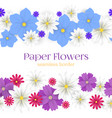 colorful paper flowers horizontal seamless vector image