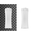cosmetic package 3d realistic plastic bottle vector image vector image