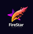 creative fire star logo design symbol icon vector image vector image