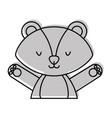 cute and tender skunk vector image vector image