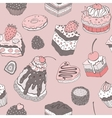 Cute cake Seamless background vector image vector image