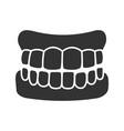 dentures glyph icon vector image vector image