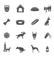 Dog icons black vector image vector image