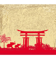 elephant and chinese construction silhouette vector image vector image
