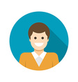 Flat Business Man User Profile Avatar icon vector image