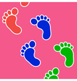 Footprints background vector image vector image