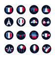 france and bastille day block and flat style icon vector image