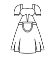 Germany dress icon outline style vector image