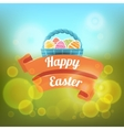 Happy Easter on a blurred vector image vector image