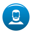 hipster icon blue vector image