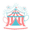 icon of the circus tent for logo vector image vector image