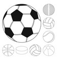 isolated object sport and ball logo set of vector image vector image