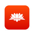 lotus flower icon digital red vector image vector image