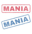 mania textile stamps vector image vector image
