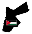 map of Jordan with flag vector image vector image