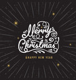 merry christmas happy new year logo amp symbol vector image