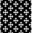 monochrome cross seamless pattern vector image