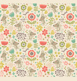 mouse seamless pattern vector image vector image