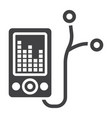 mp player device glyph icon fitness and audio vector image vector image