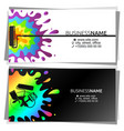 Multicolored paint drops business card for painter