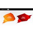 origami bubbles vector image vector image
