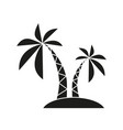palm black icon vector image vector image