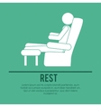 person resting design vector image vector image