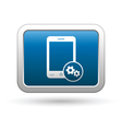 Phone icon with settings menu vector image vector image