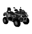 quad bike off road vehicle isolated on white vector image vector image