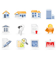 Real estate icon set vector | Price: 3 Credits (USD $3)