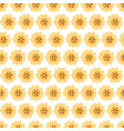 seamless background with daisy yellow flowers vector image vector image