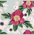 seamless pattern with peonies flowers vector image vector image