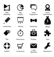Seo Icons Vol 2 vector image vector image