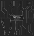 set of four abstract seamless pattern with lines vector image vector image