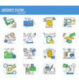 set of online money payments and finance vector image