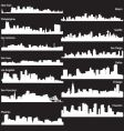 Silhouettes of usa cities vector | Price: 1 Credit (USD $1)