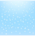 snowfall background whte snowflakes on blue vector image vector image