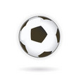 soccer football ball vector image vector image