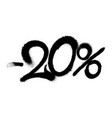 sprayed -20 percent graffiti with overspray in vector image vector image