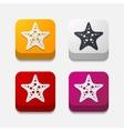 square button starfish vector image