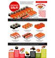 sushi bar menu template of japanese cuisine vector image vector image