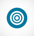 target bold blue border circle icon vector image vector image